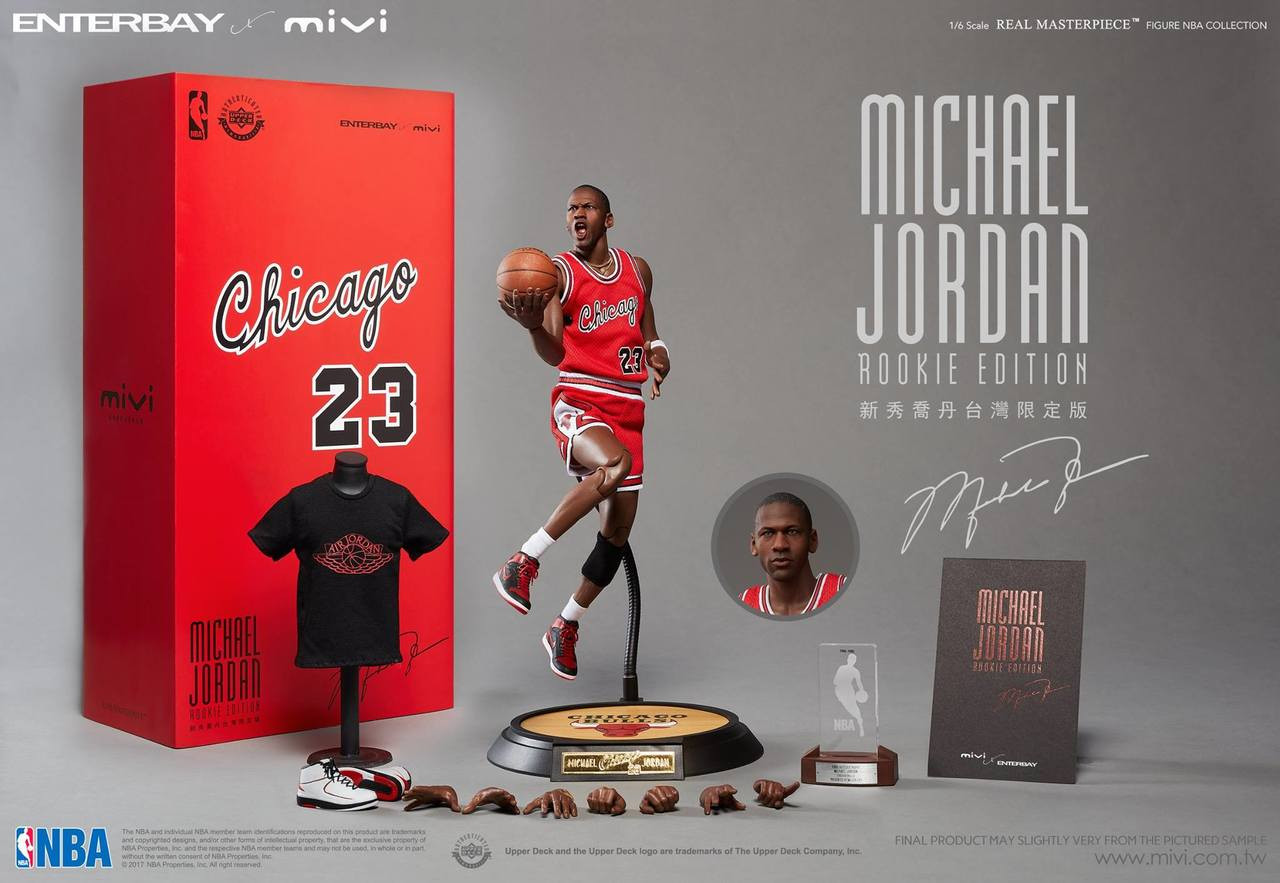 "3ec139eeaf4a60 MIV-1704  ENTERBAY x MiVi Rookie Michael Jordan AJ1 ""WINGS"" with ..."