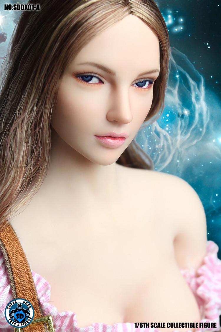 Sud Dx01a 1 6 Medium Light Brown Hair Headsculpt With Movable Eye