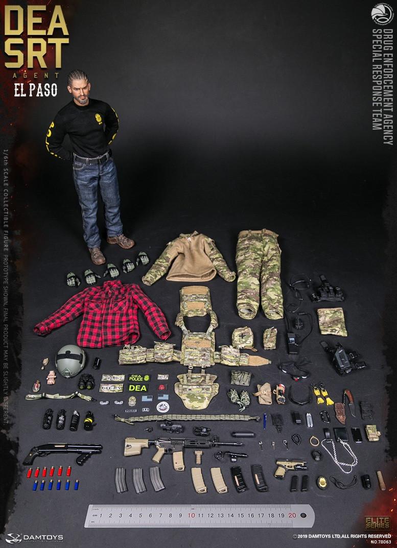 1//6 DEA SRT Special Response Team Agent El Paso Body F DAM 78063 Figure