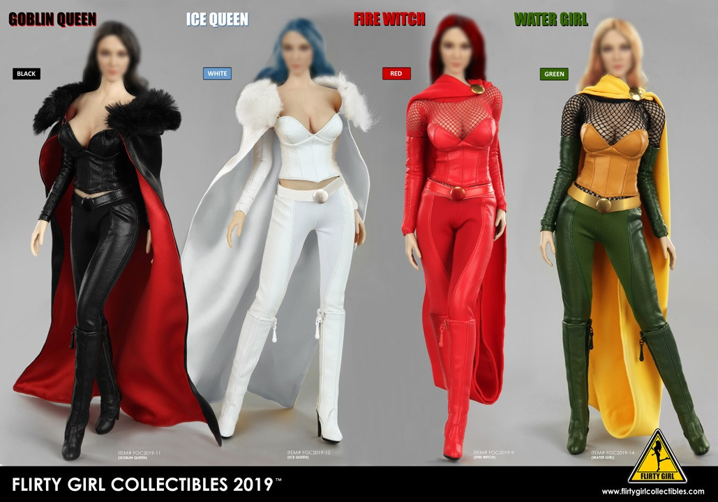 1:6 Figure Flirty Girl/'s Oktoberfest Cosplay Clothing Set in Red FGC2017-6
