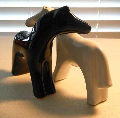 European Horse Salt & Pepper Shakers