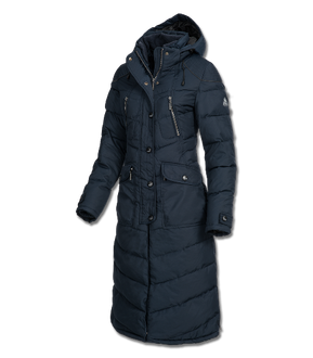 Saphira Riding Long Coat In Navy