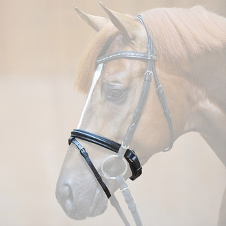 Padded Crank Noseband w/Flash in Black