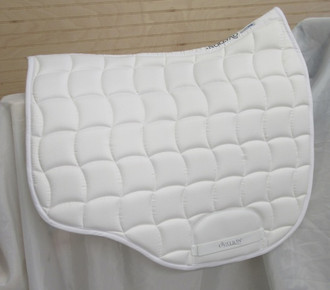 Euro Shaped Dressage Pad in White