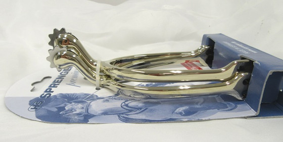 Herm Sprenger Swan Neck Spur w/Dull Rowell in German Silver