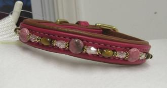 xxxs Pink w/rhodonite, tigereye, crys's