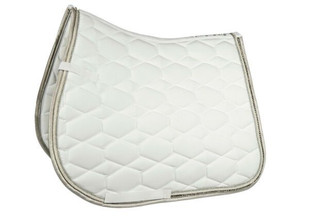 Fashion Crystal Dressage Pad in white