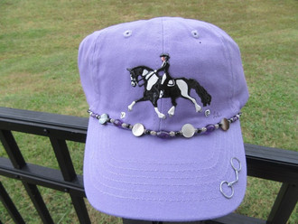 Hand Painted Embellished Cap; Lavender; Barock Pinto