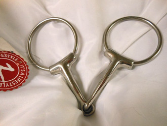 Stainless Steel Eggbutt Loose Ring Single Joint Snaffle Bit