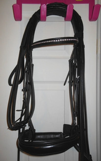 Red Barn Piaffe Weymouth Bridle in black