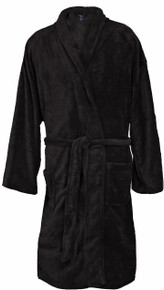 Big Men's Foxfire Plush Robe BLACK Dual Size 3XL-4XL #238