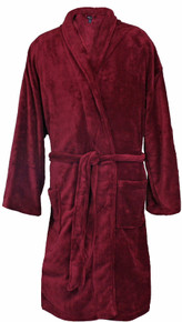 Big Men's Foxfire Plush Robe BURGUNDY Dual Size 5XL-6XL #230
