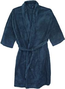 Big Men's Foxfire Plush Robe NAVY Dual Size 5XL-6XL #240