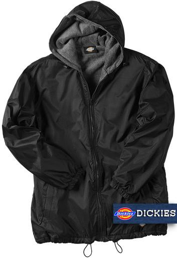 black big man's nylon hooded jacket