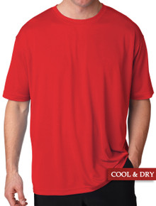 UltraClub Cool-n-Dry Performance T-Shirt Red 3XL - 6XL #1194