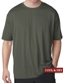 UltraClub Cool-n-Dry Performance T-Shirt Olive 4XL 5XL #1195