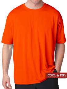 UltraClub Cool-n-Dry Performance T-Shirt Bright Orange 5XL #1196