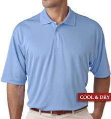 Big & Tall Men's UltraClub Cool-n-Dry Polo Light Blue, Full Image