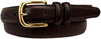 big men's brown dress belt