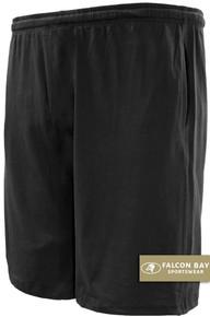Black Falcon Bay Cotton Jersey Shorts