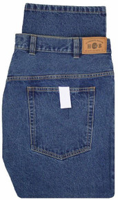 big men's medium blue jeans by harbor bay