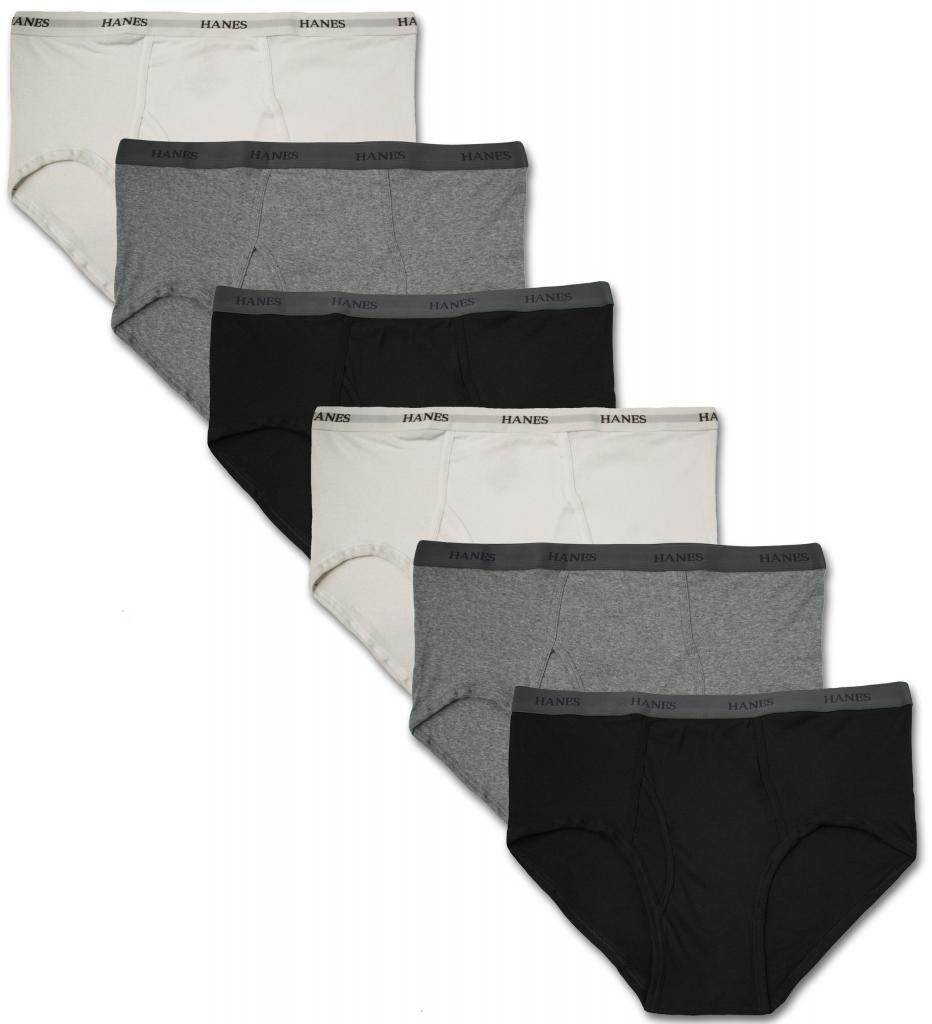 Hanes Big Mens Underwear Cotton Boxer Briefs 3-Pack #1226