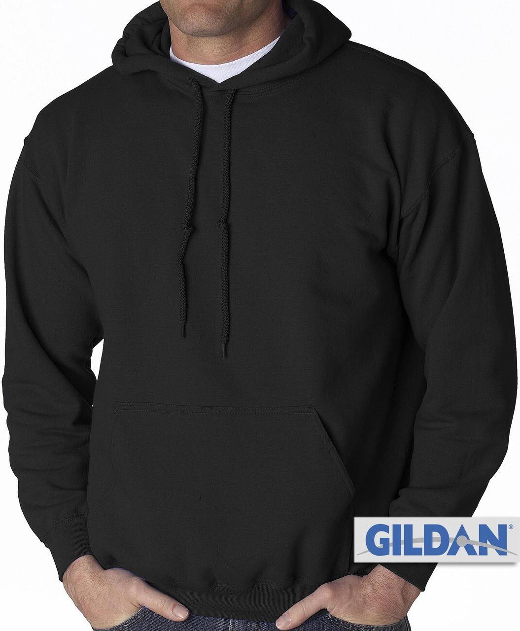 b69eece1d9dfb5 Gildan Pullover Hoodie Black 3XL 4XL 5XL  369. Image 1. Click to enlarge