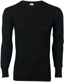 men big and tall thermal black shirt