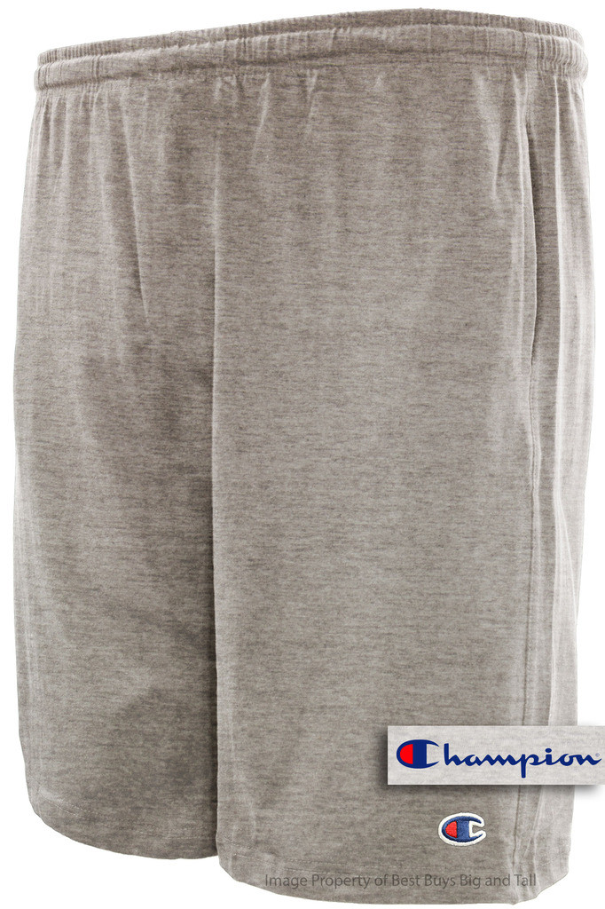5af2dce149 Big Men's Cotton Jersey Shorts by Champion - Gray, Lightweight