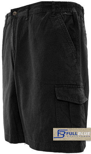 black cargo shorts by full blue