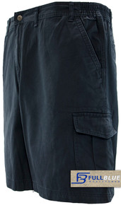 Navy blue cargo shorts by full blue