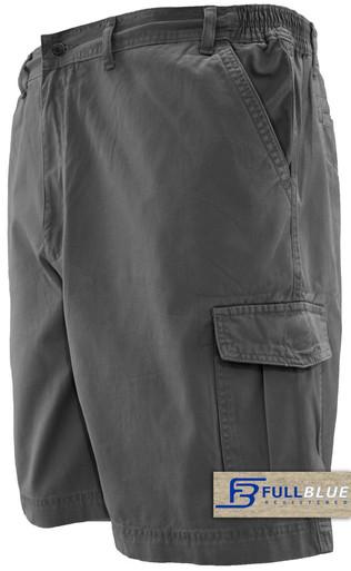 gray cargo shorts by full blue