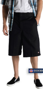 Dickies Long Length Work Shorts Style 42283 Black Sizes 44 - 60 #570
