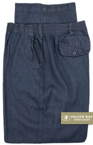 Big & Tall Men's Falcon Bay Casual Twill Pants FULL ELASTIC Denim - Gallery
