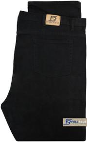 Big & Tall Men's Denim Jeans Fixed Waist Black folded image
