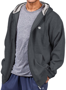 Champion Full Zip Fleece Hoodie CHARCOAL 3XL 4XL 2XLT #626C