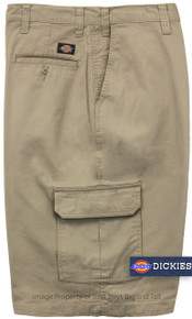 Dickies longe length khaki cargo shorts