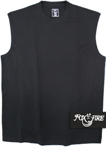 foxfire black muscle tee for big and tall