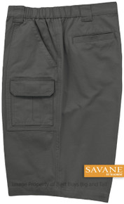 Savane black hiker cargo shorts