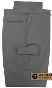 haggar big men's stretch cargo pants - gray