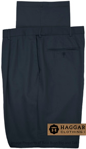 Navy Pleated Pants by Haggar for Big & Tall Men