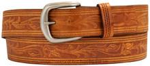 big men's tan/brown western leather belt