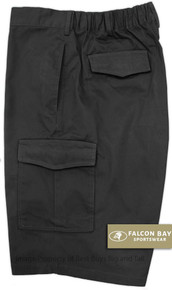 Black Falcon Bay Cargo Shorts Expandable Waist