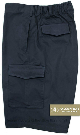 Navy Falcon Bay Cargo Shorts Expandable Waist