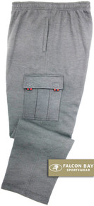 Gray Falcon Bay Big Men's Fleece Cargo Pants