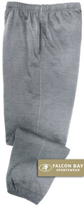Gray Falcon Bay Big Men's Fleece Sweat Pants