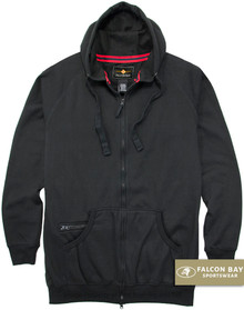 Black Falcon Bay Full Zip Fleece Hoodie