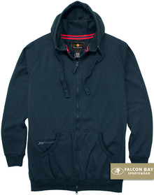 Navy Falcon Bay Full Zip Fleece Hoodie