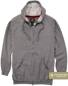 Gray Falcon Bay Full Zip Fleece Hoodie
