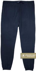 Navy Falcon Bay 100% Cotton Jersey Pants
